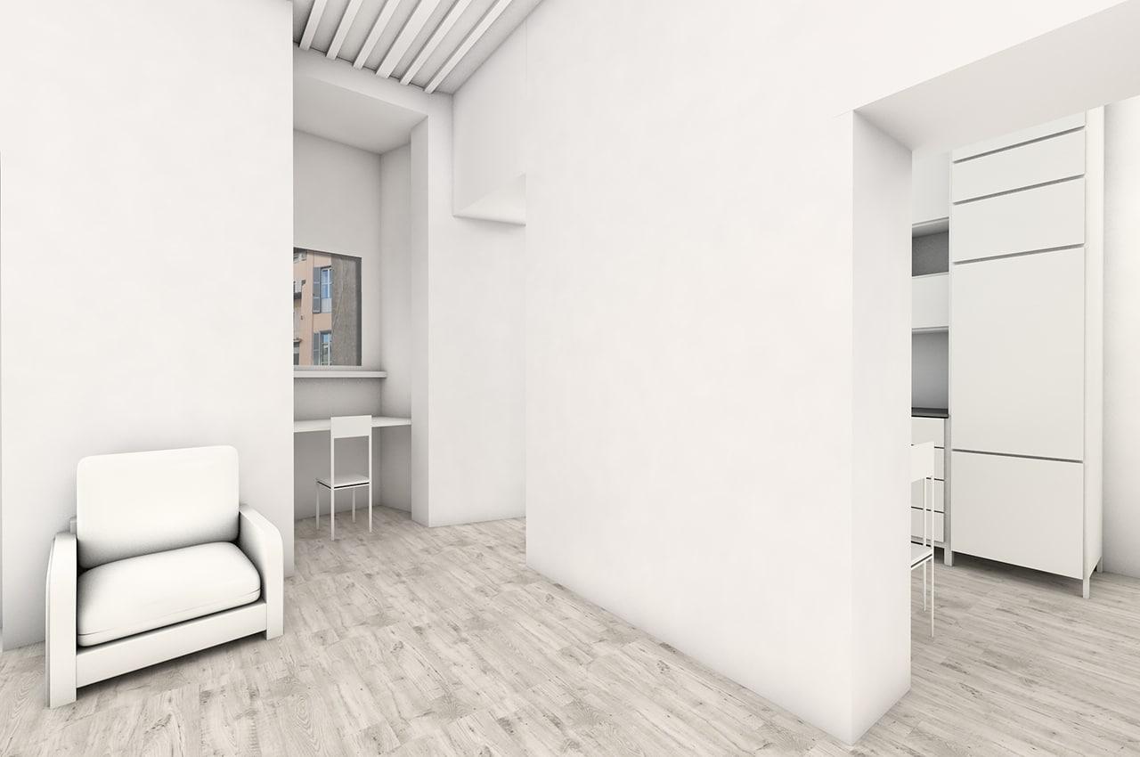 Ristrutturazione di un appartamento sito in via del leoncino roma